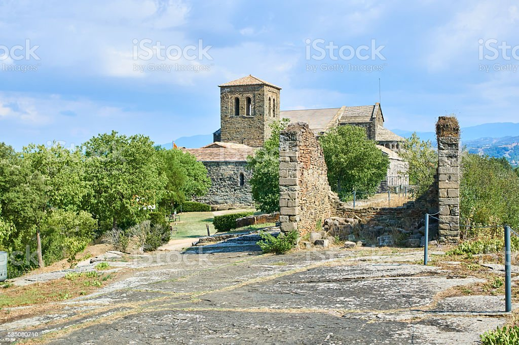 Sant Pere Casserres Romanic Monastry stock photo