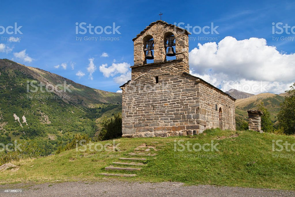 Sant Quirc de Durro stock photo