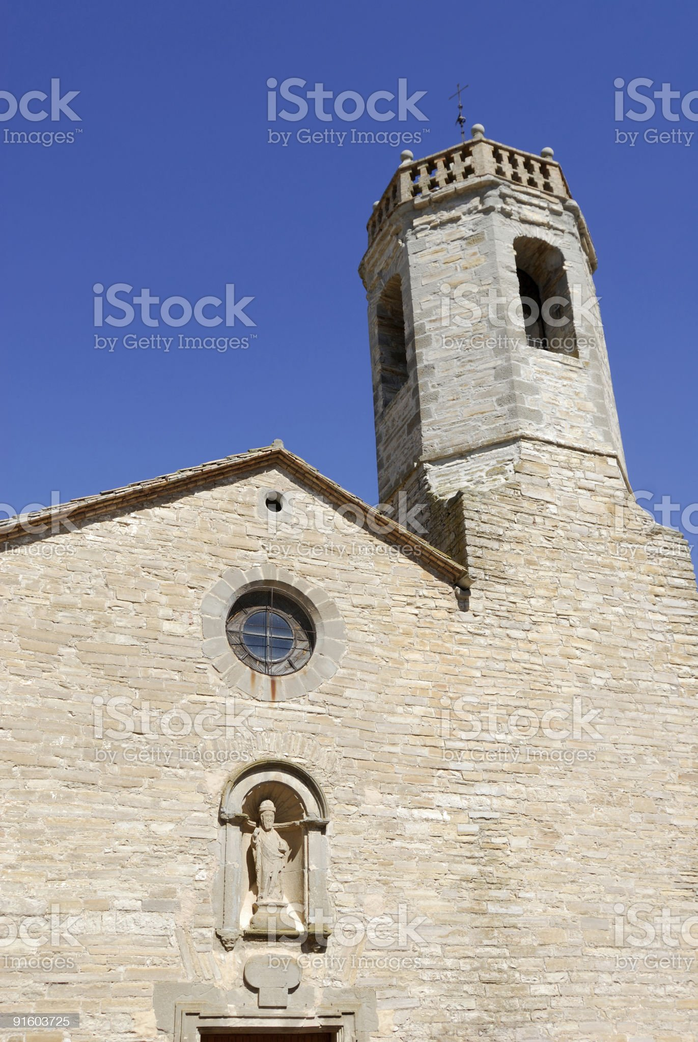 Sant Ramon (Catalonia, Spain), ancient church of the little village royalty-free stock photo
