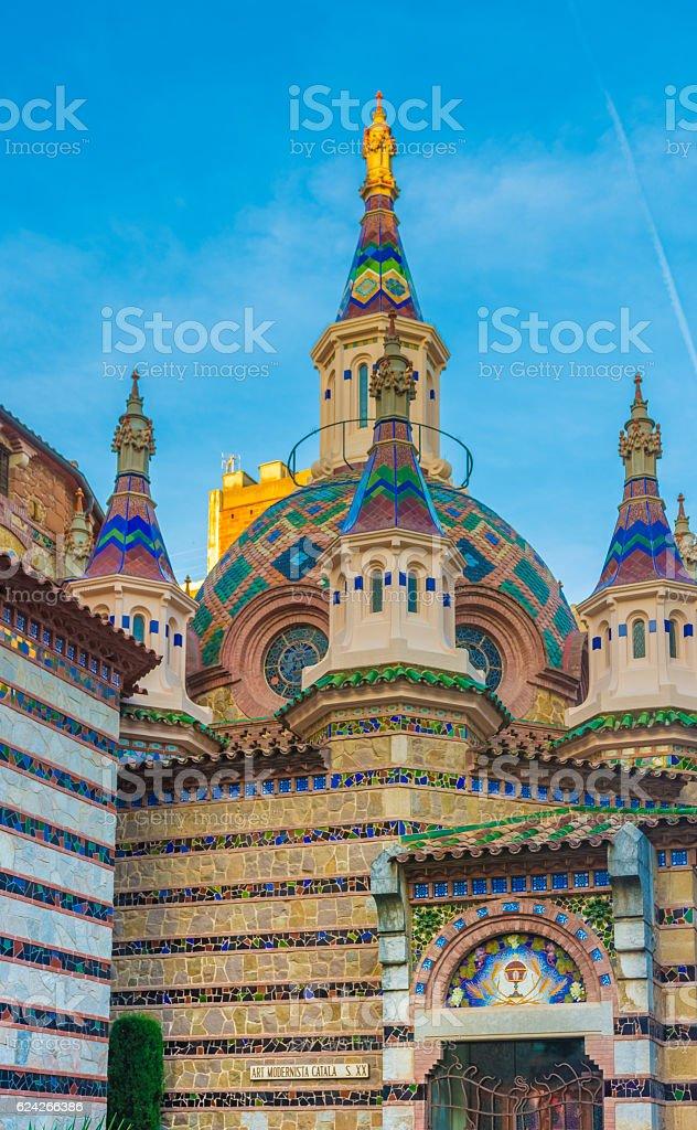 Sant Roma Church, Lloret de Mar, Costa Brava, Catalonia, Spain stock photo