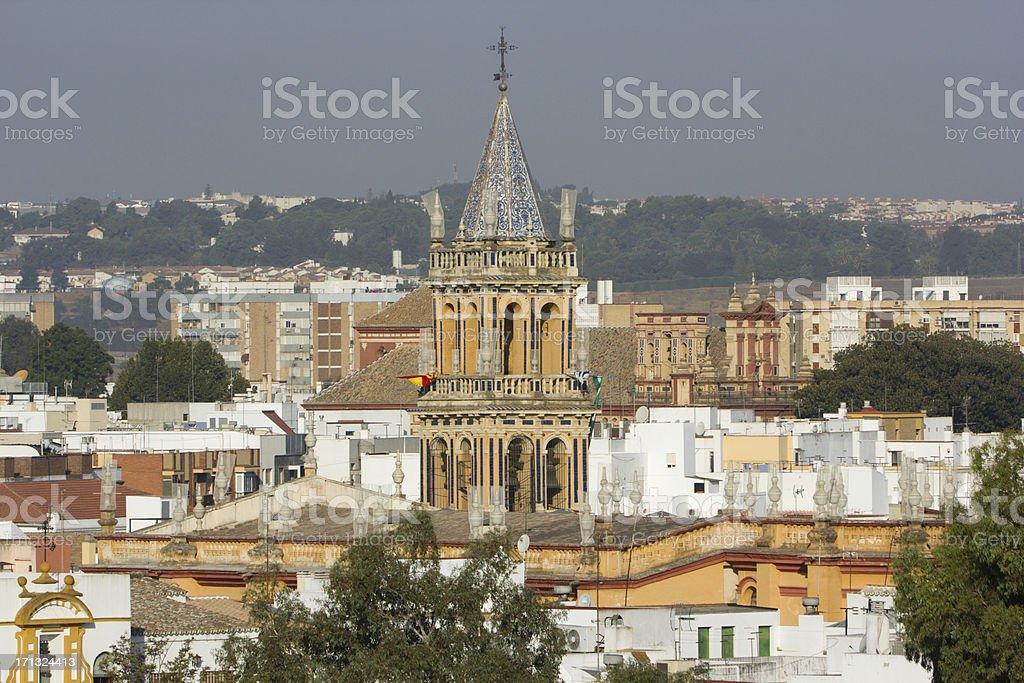 Santa Ana Church in Seville, Spain stock photo