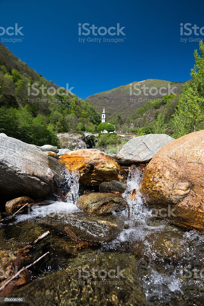 Santa Ana im Tal von Canobbio stock photo