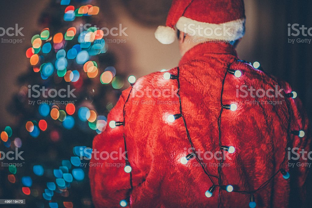 Santa Arrives stock photo