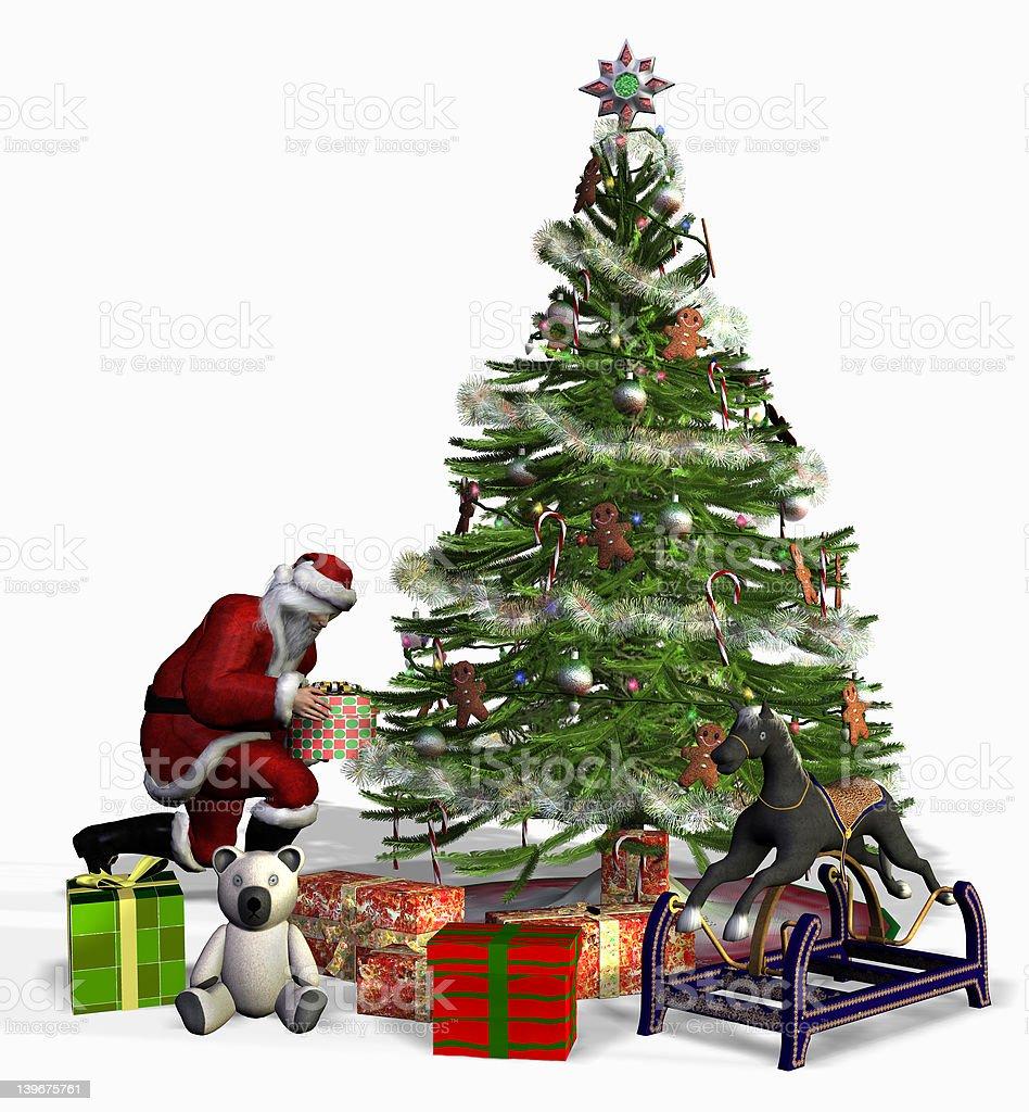 Santa at Work royalty-free stock photo