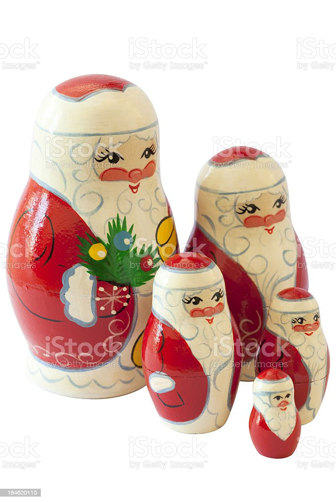 Santa Babushka Doll royalty-free stock photo