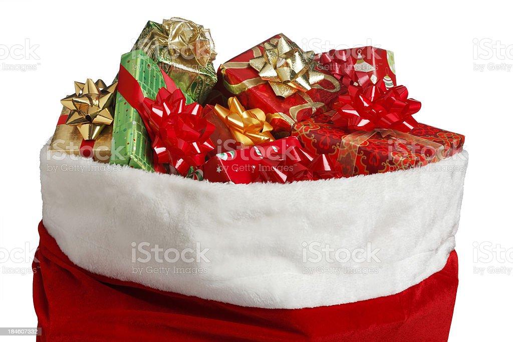 Santa Bag stock photo