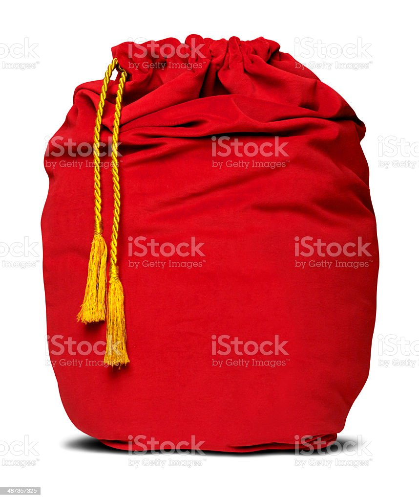 Santa Bag stock photo