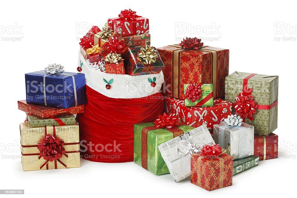 Santa Bag & Presents stock photo