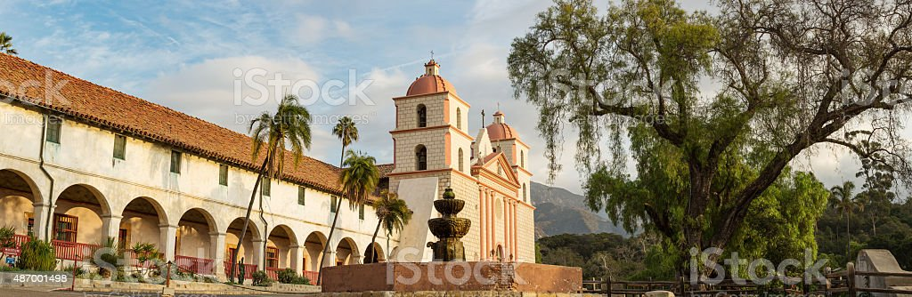 Santa Barbara, California Mission Panorama stock photo