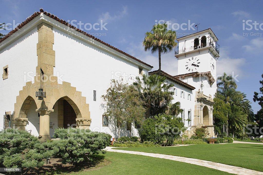 Santa Barbara County Courthouse royalty-free stock photo