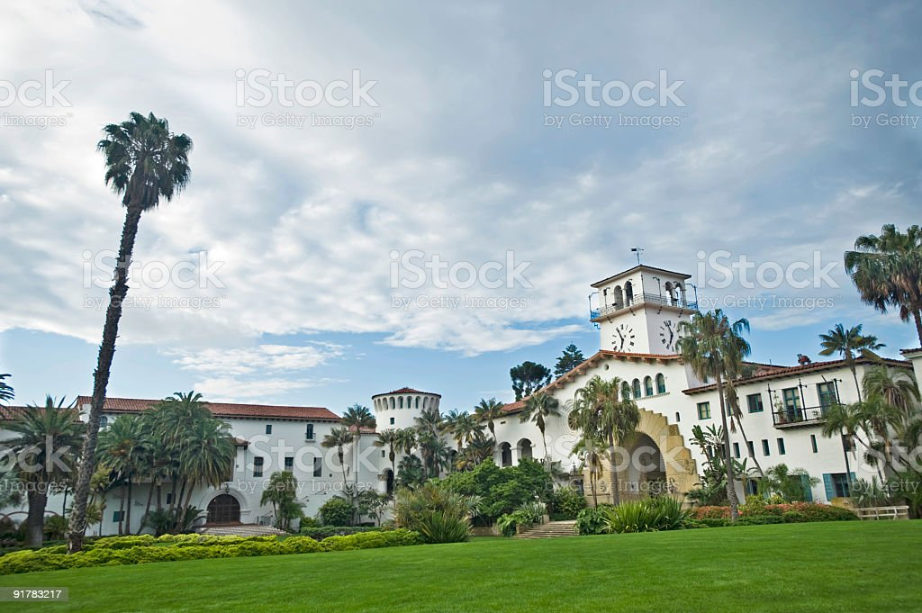 Santa Barbara Courthouse royalty-free stock photo