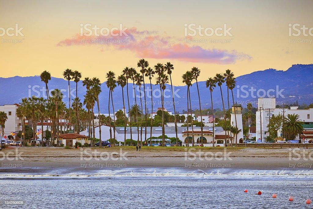 Santa Barbara from the pier stock photo