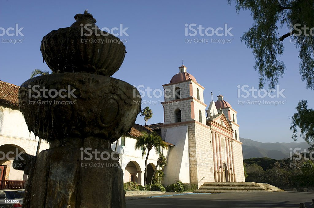 Santa Barbara Mission royalty-free stock photo