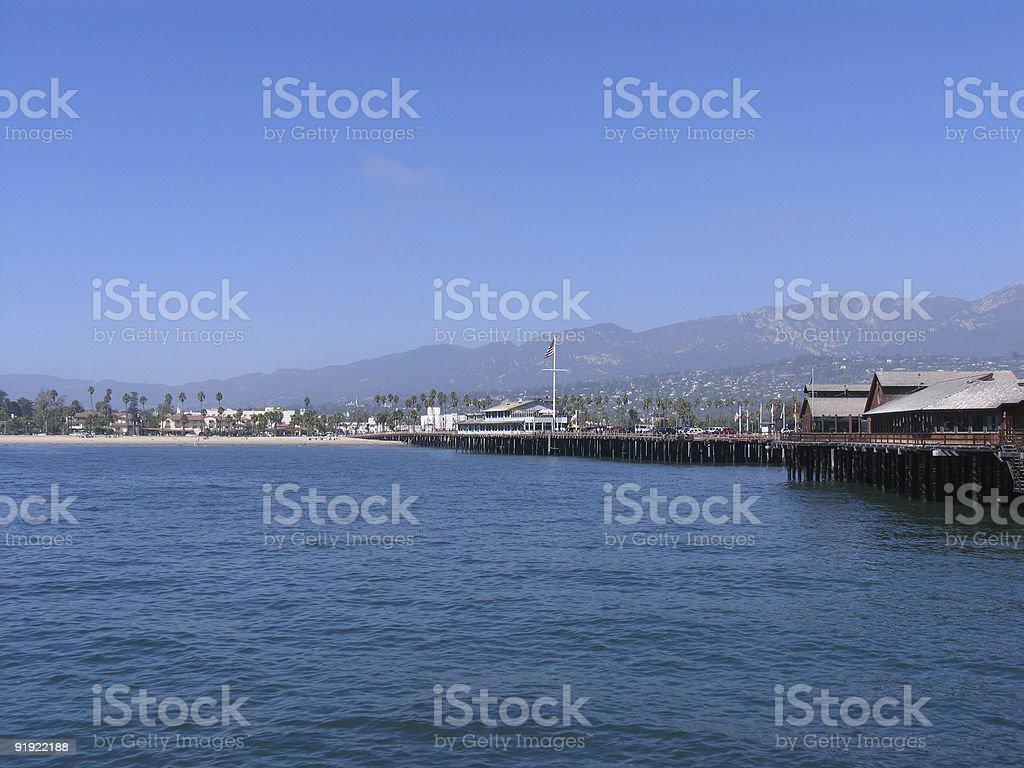 Santa Barbara Pier royalty-free stock photo