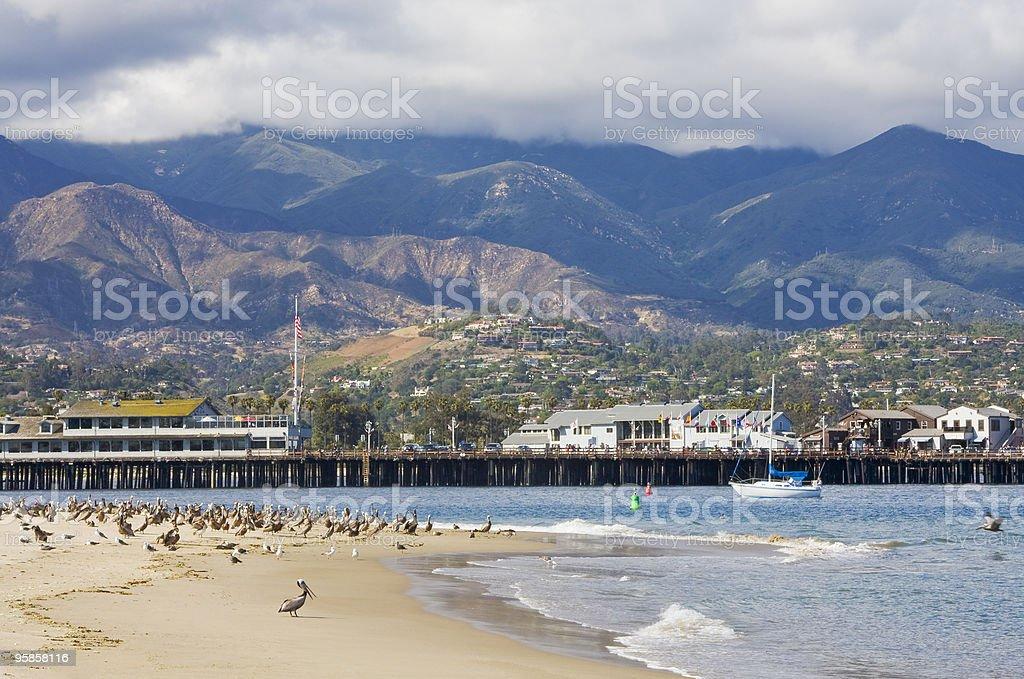 Santa Barbara Sandspit stock photo
