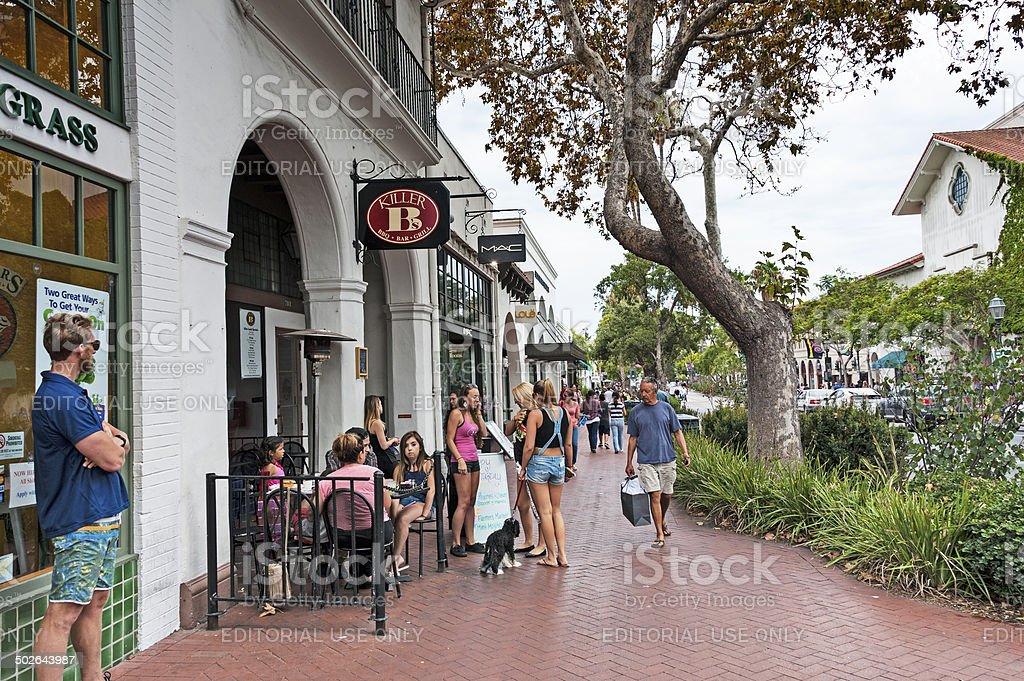 Santa Barbara Street Scene stock photo