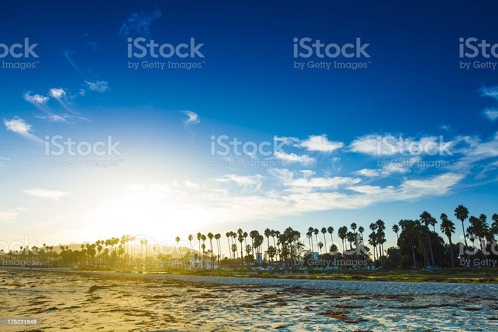 Santa Barbara Sunset stock photo