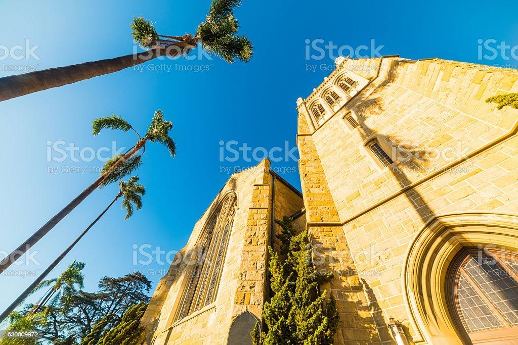 Santa Barbara's Trinity Episcopal Church stock photo