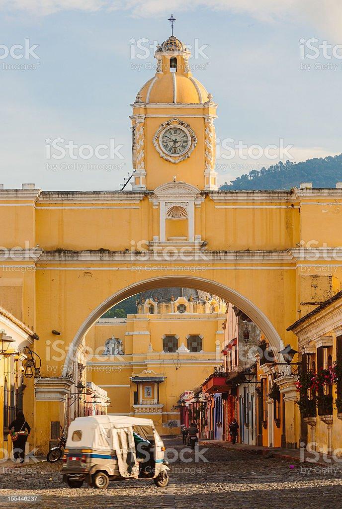 santa catalina arch in antigua downtown royalty-free stock photo