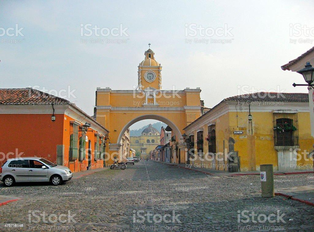 Santa Catalina Arch in Antigua stock photo