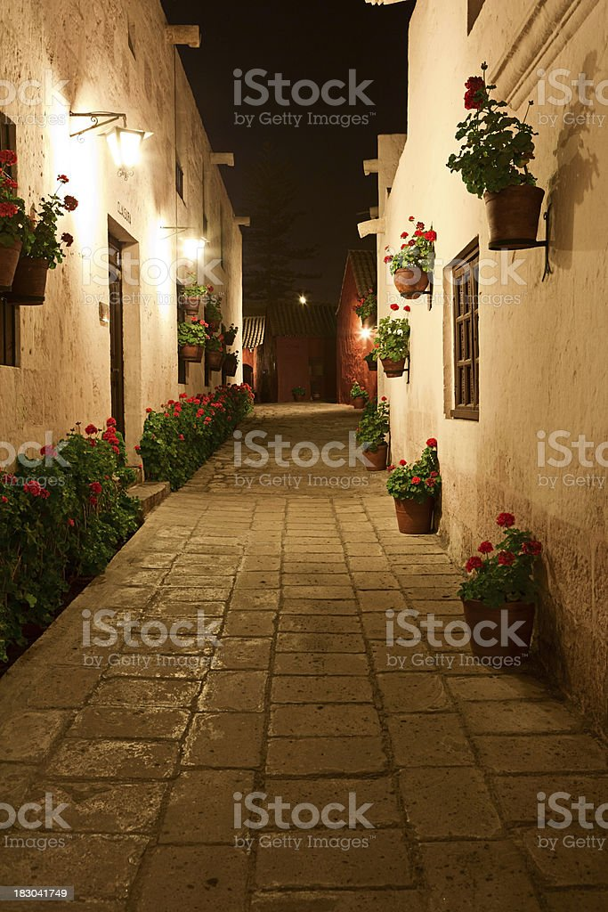 Santa Catalina Monastery at night stock photo