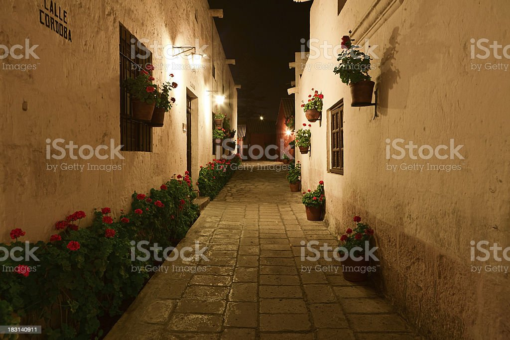 Santa Catalina Monastery at night stock photo