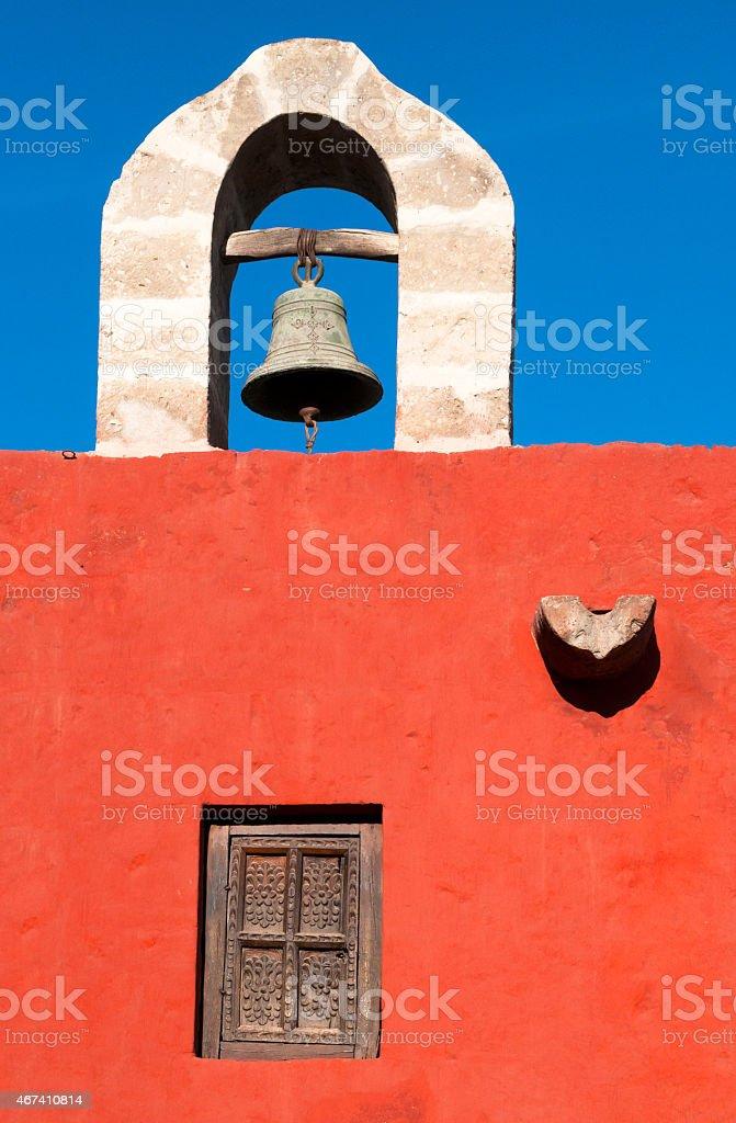 Santa Catalina Monastery Bell stock photo