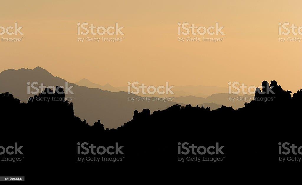 Santa Catalina Mountains stock photo