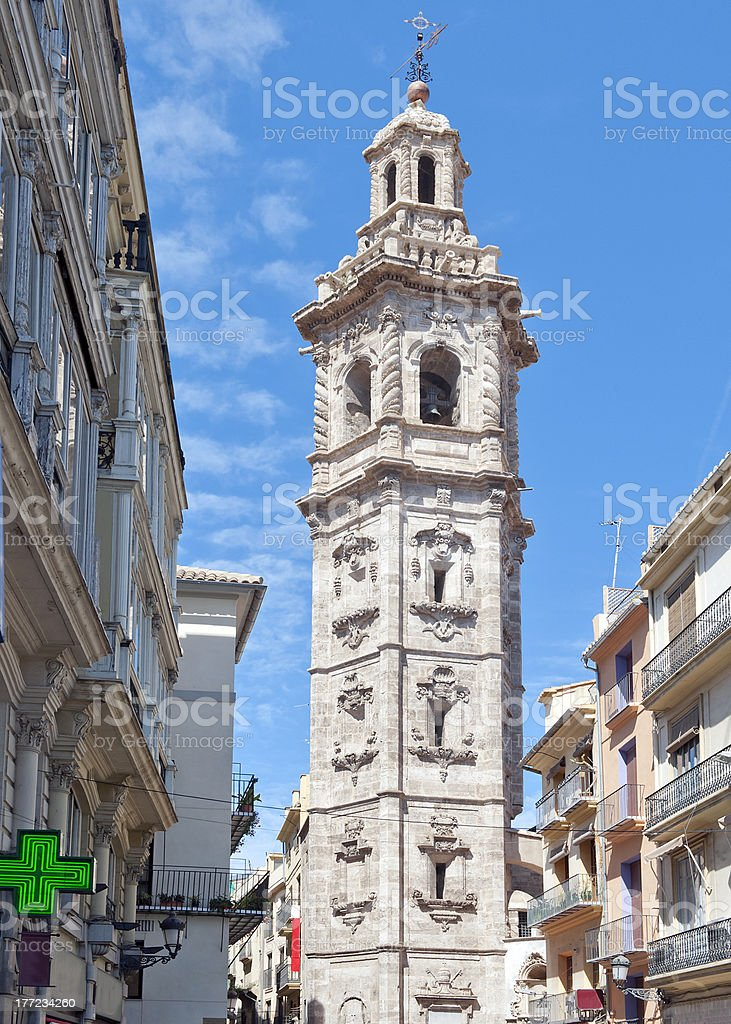 Torre De Santa Catalina Valencia stock photo
