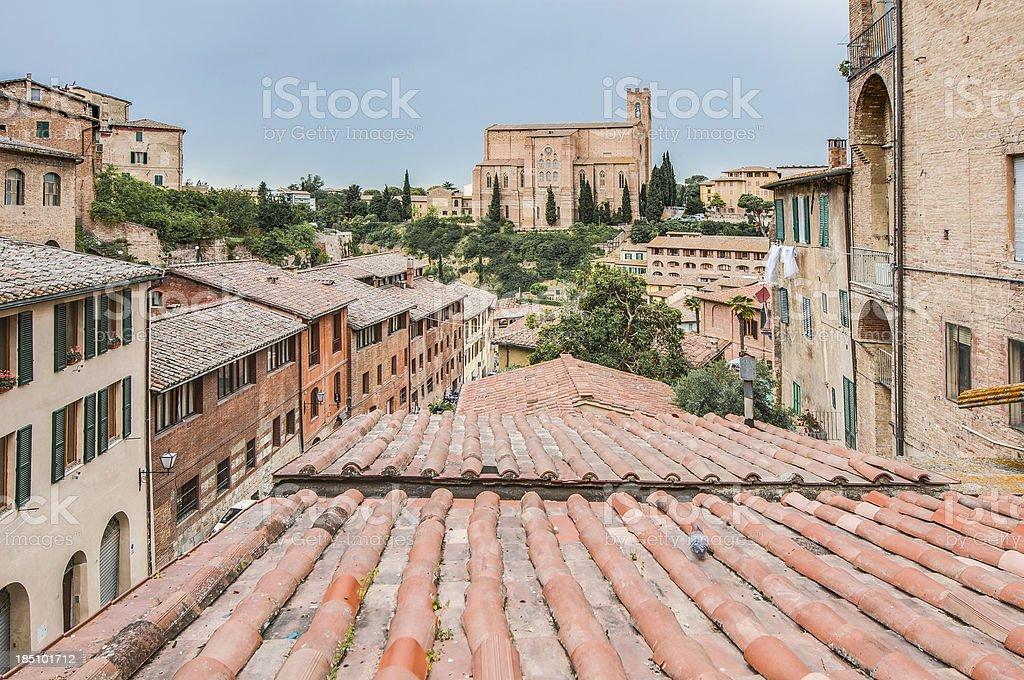 Santa Caterina church in Siena, Tuscany, Italy. royalty-free stock photo