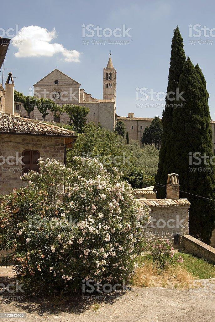 Santa Chiari in Assisi stock photo