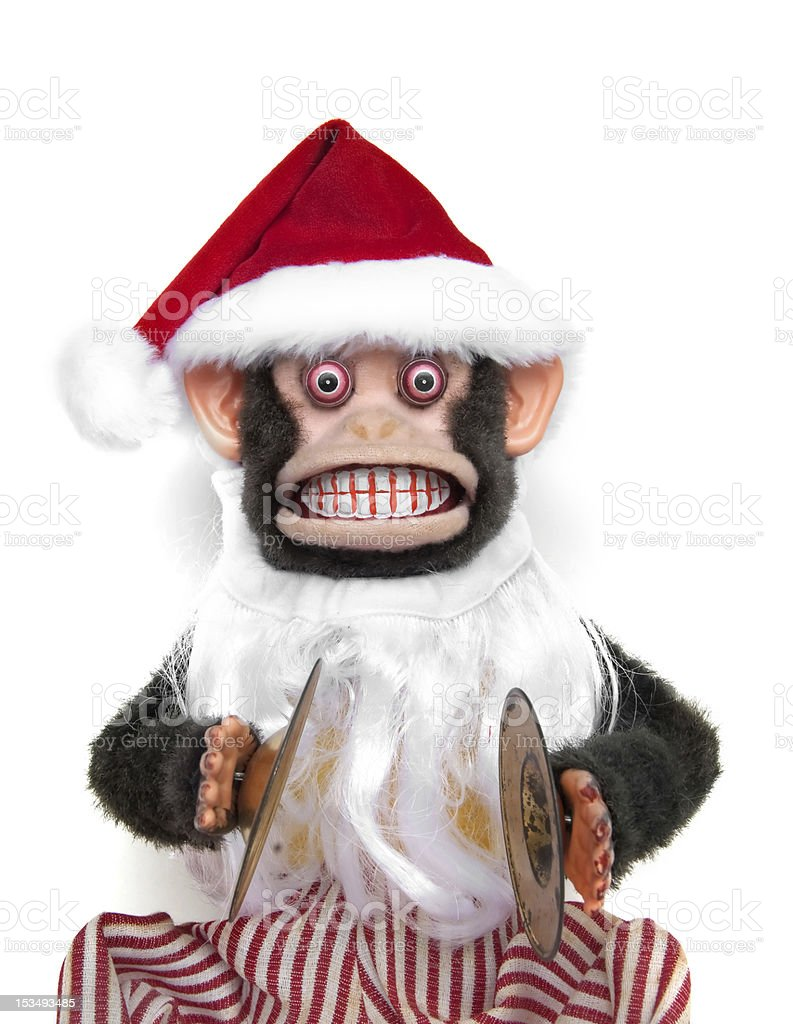 Santa Chimp royalty-free stock photo