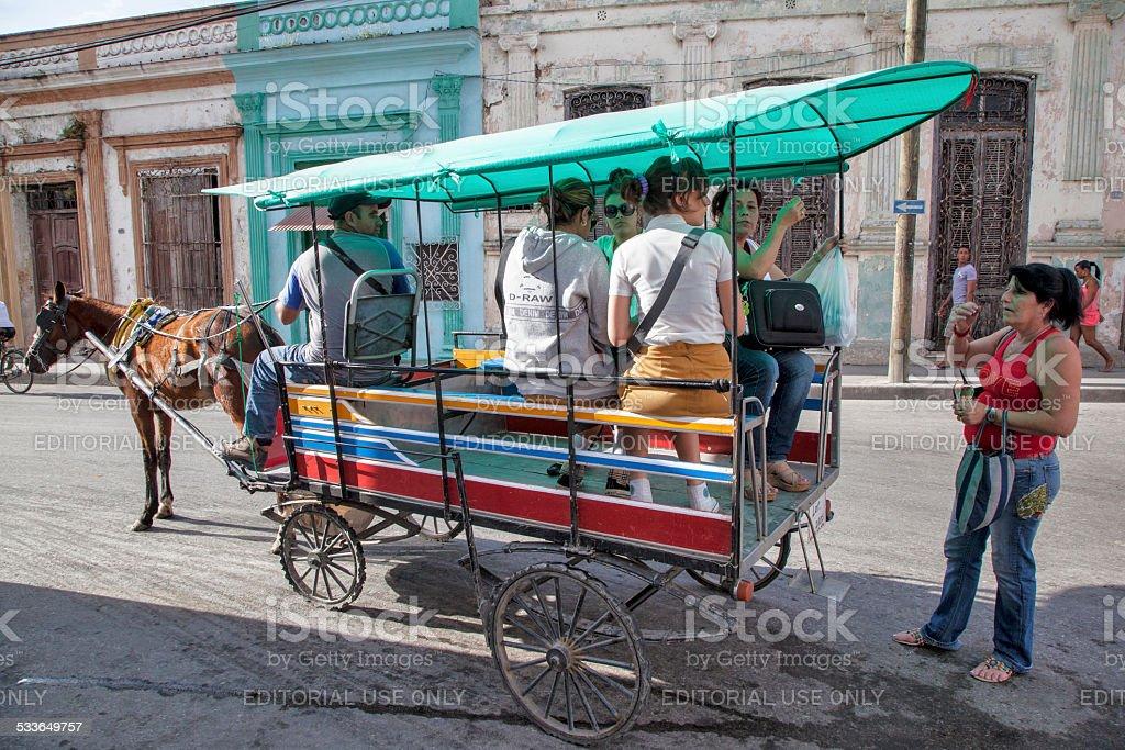 Santa Clara Horse & Cart stock photo