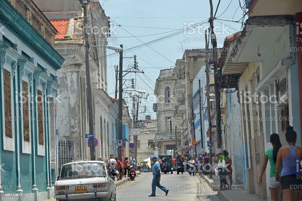 Santa clara street scene stock photo