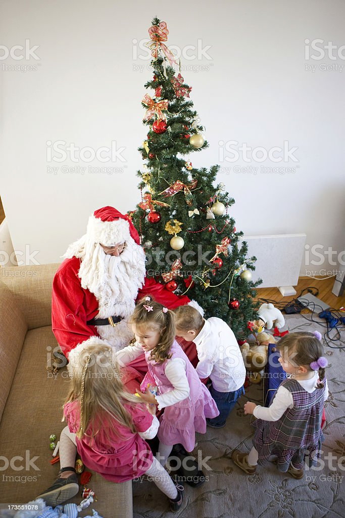Santa Claus and Children royalty-free stock photo