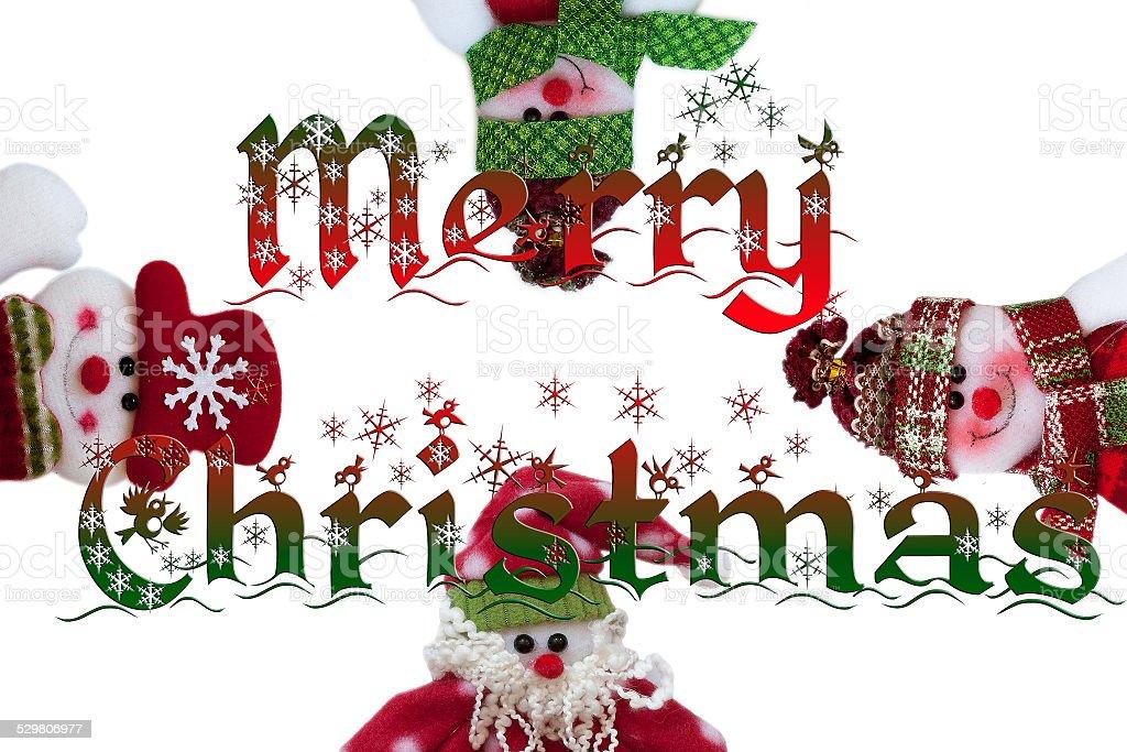 Papai Noel e seus amigos. Engraçado composição. foto royalty-free