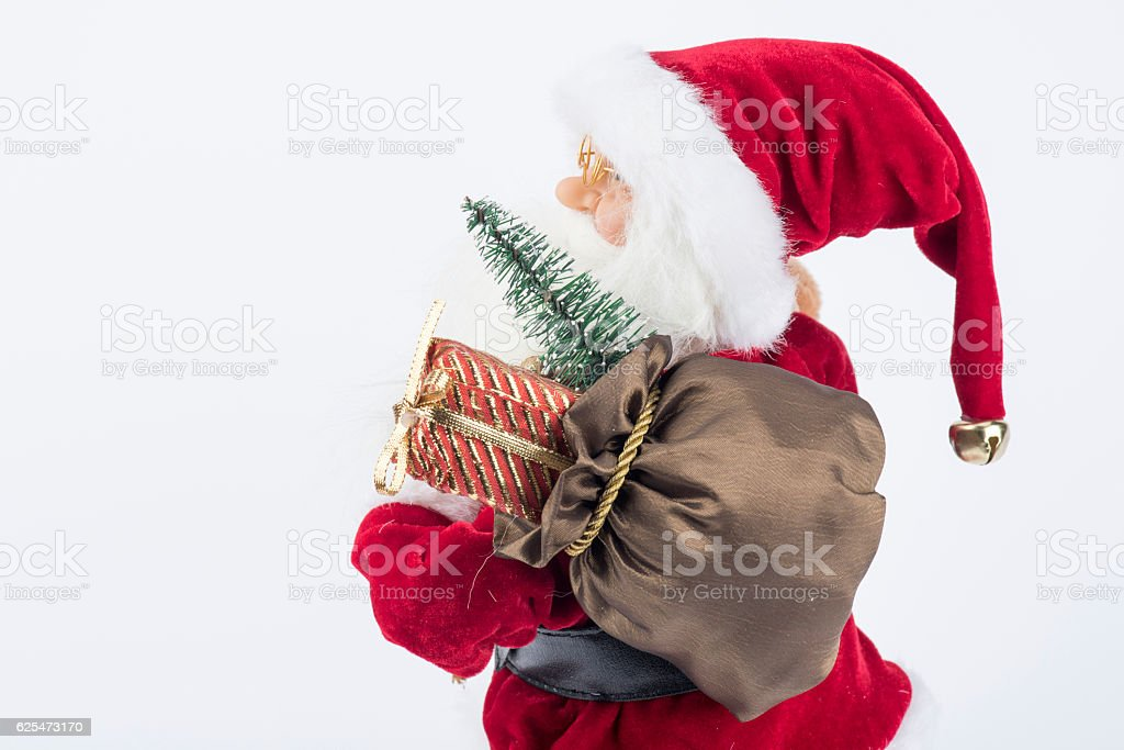 Santa Claus and Gifts stock photo