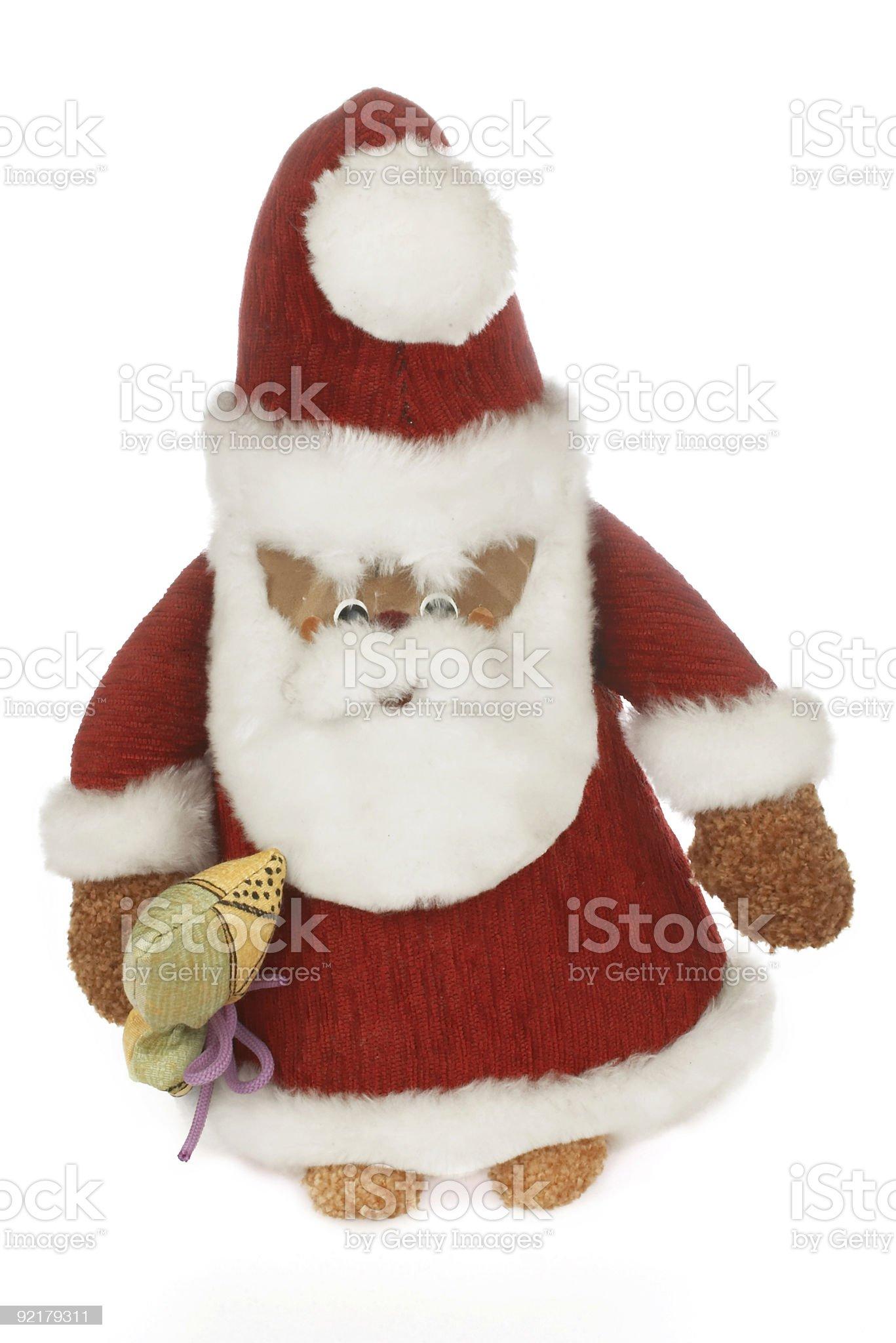 Santa Claus and his bag of goodies royalty-free stock photo