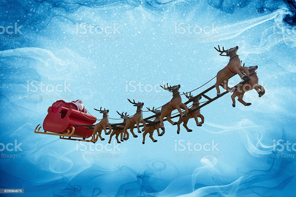 Santa Claus and snow fantasy! stock photo