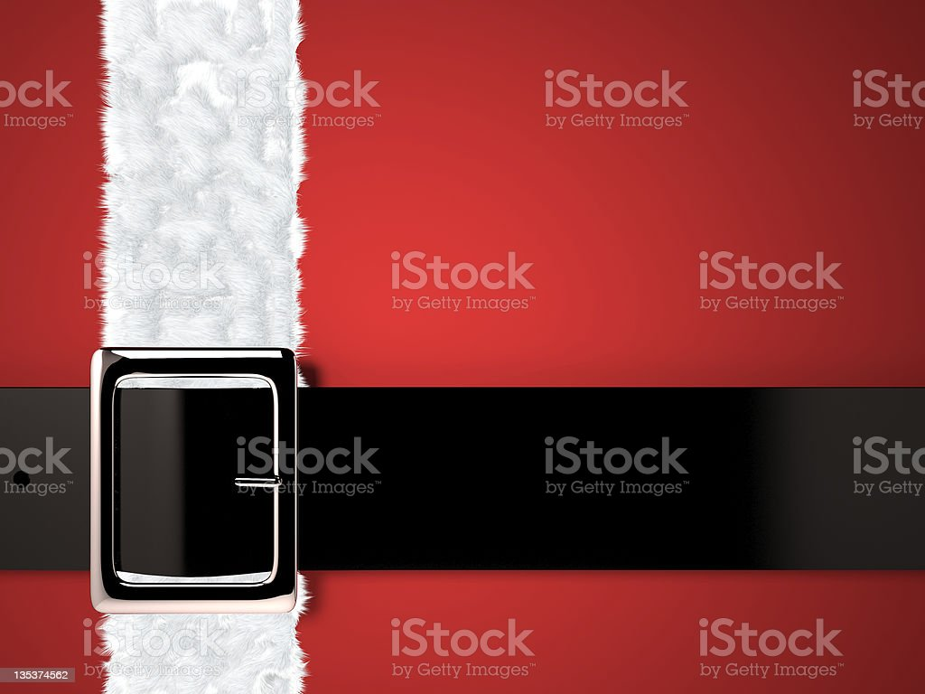 santa claus belt background stock photo