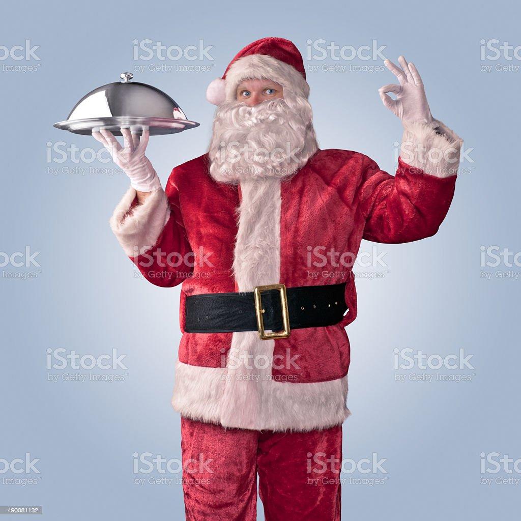 Santa Claus chef stock photo