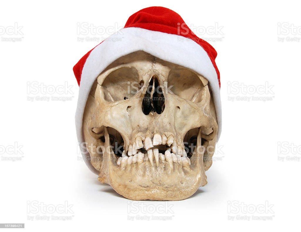 Santa Claus Christmas Skull royalty-free stock photo