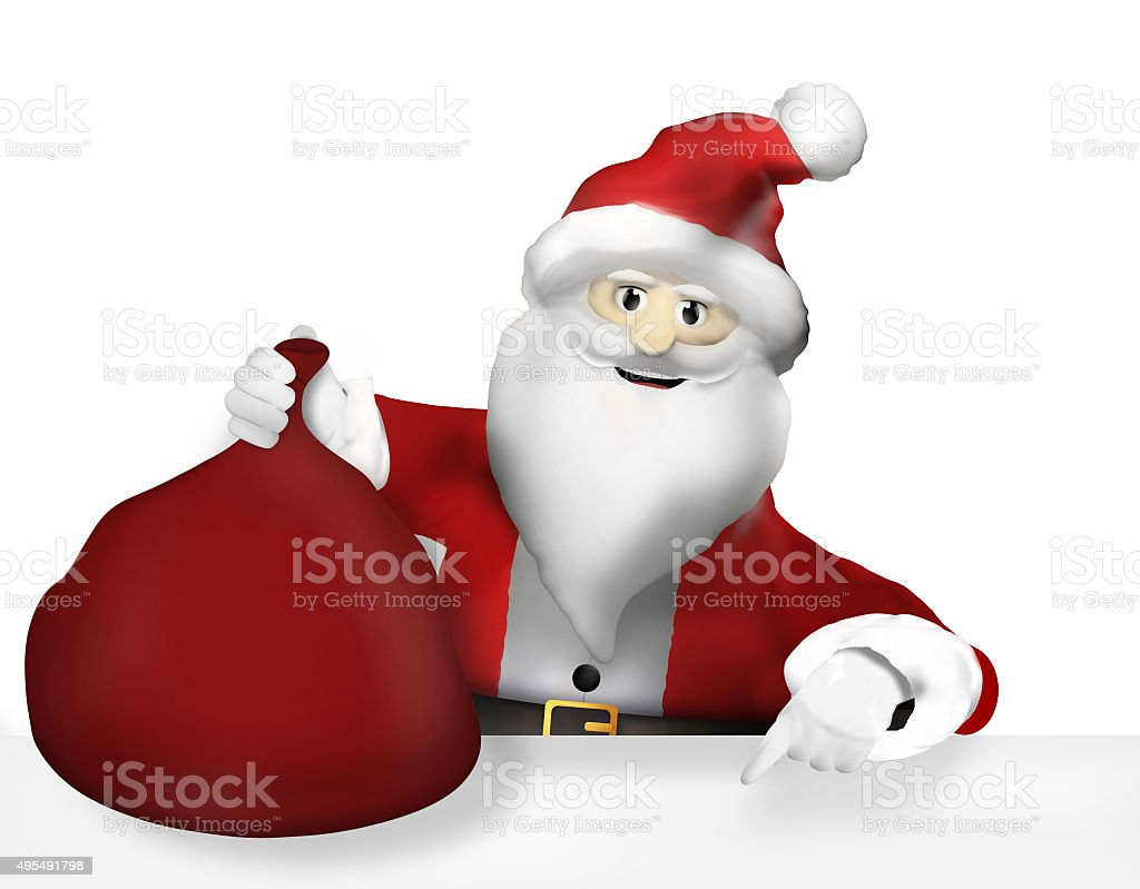 Santa Claus Christmas Thumbs up Design stock photo