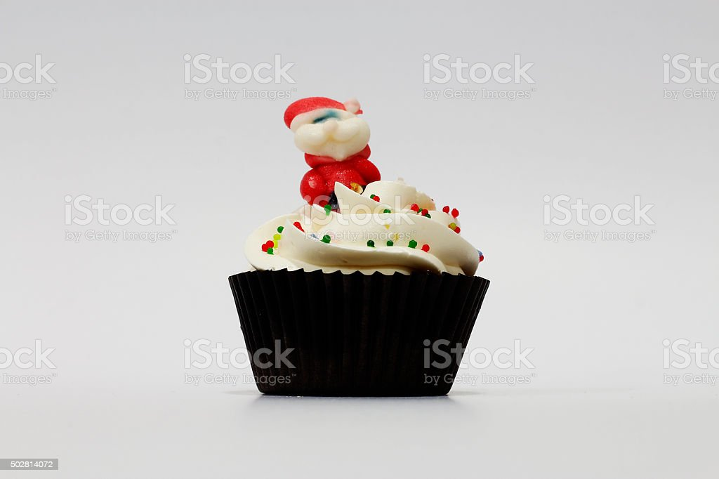 Santa Claus Cupcake stock photo