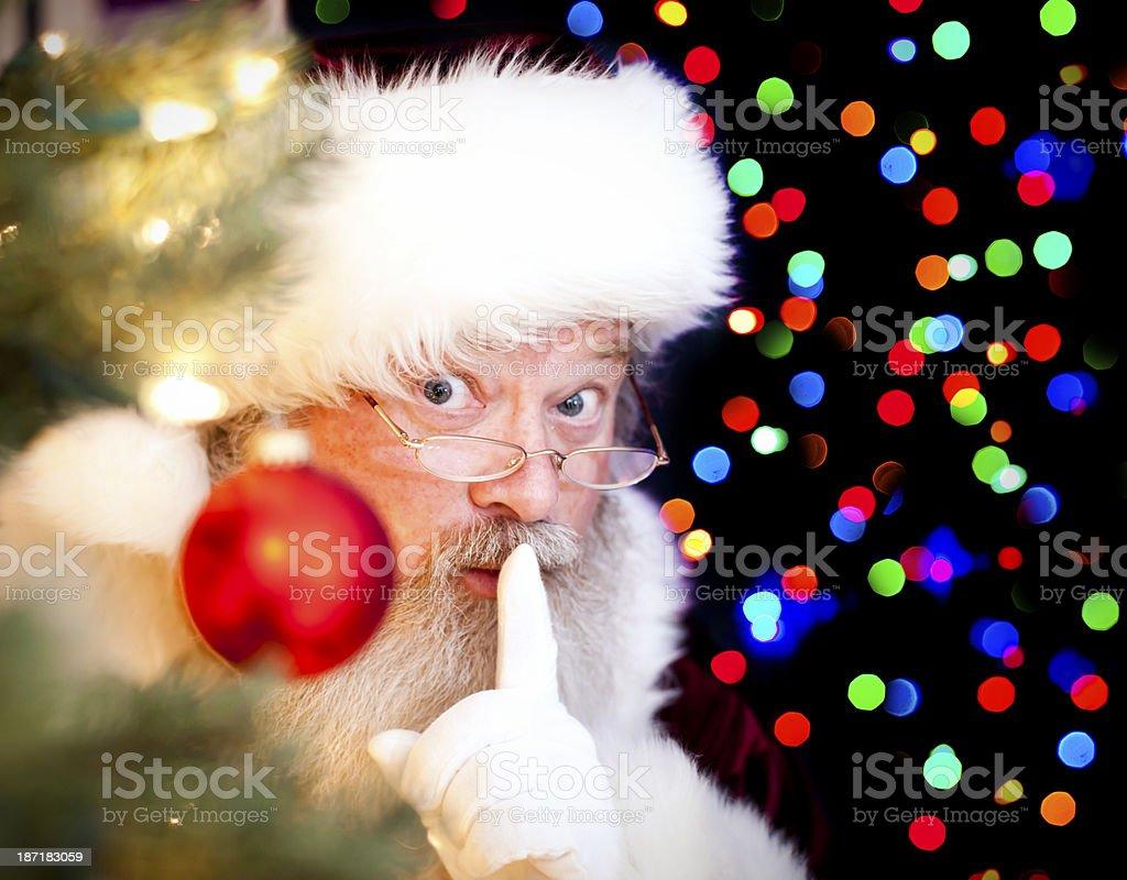 Santa Claus Expressions: Shh royalty-free stock photo