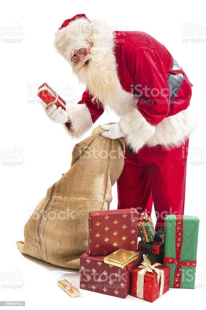Santa Claus found his gift royalty-free stock photo