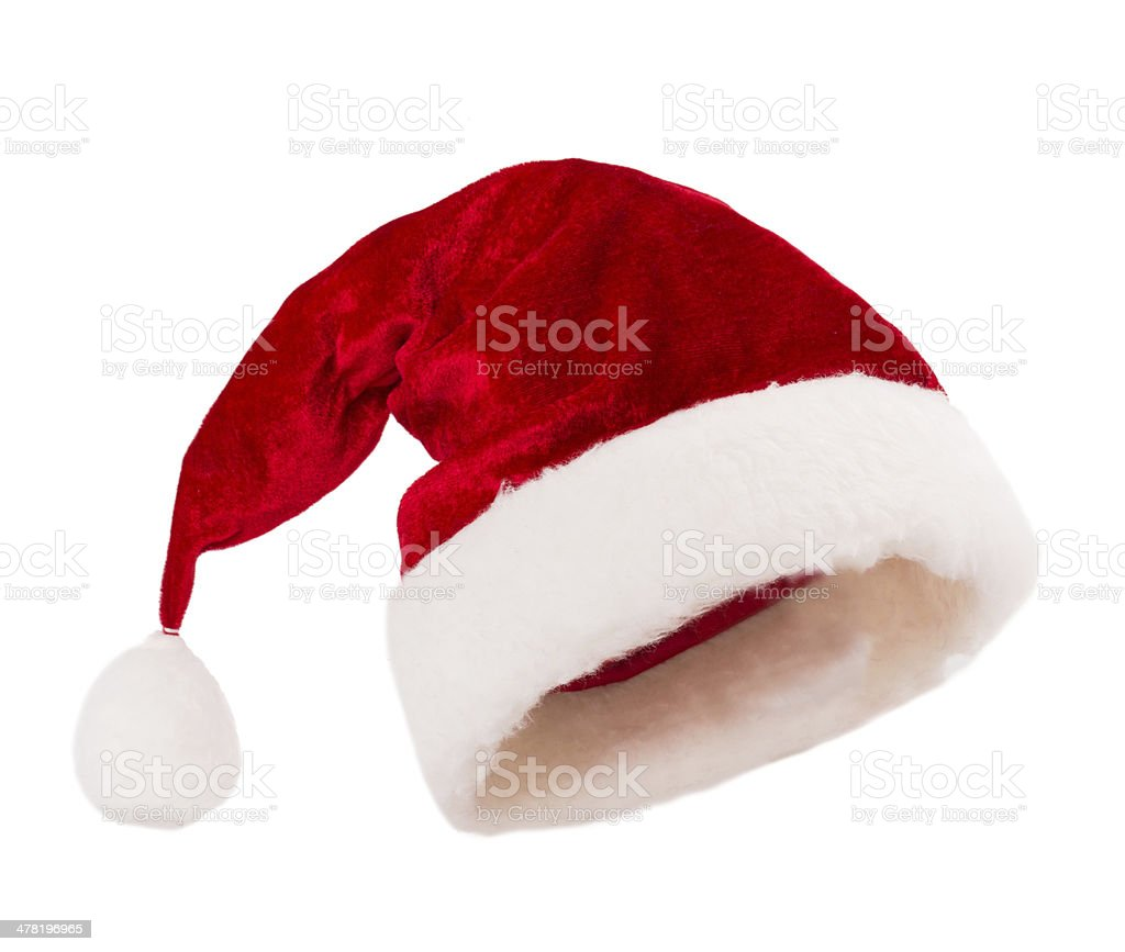 santa claus hat stock photo