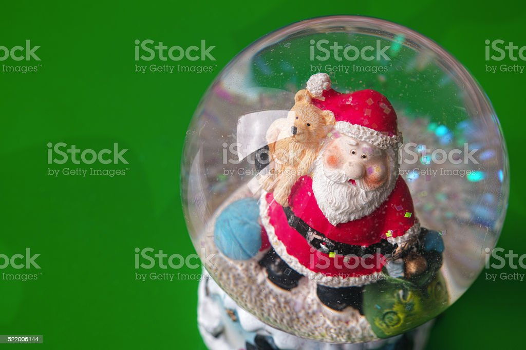 Santa Claus in a crystal water ball royalty-free stock photo