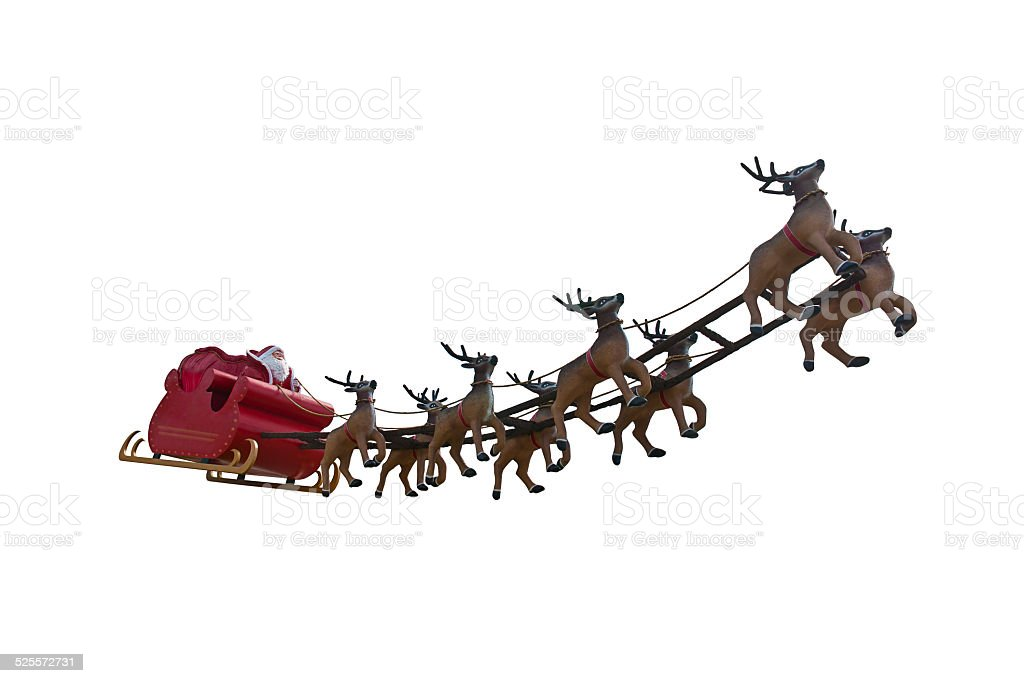 Santa Claus is coming! stock photo