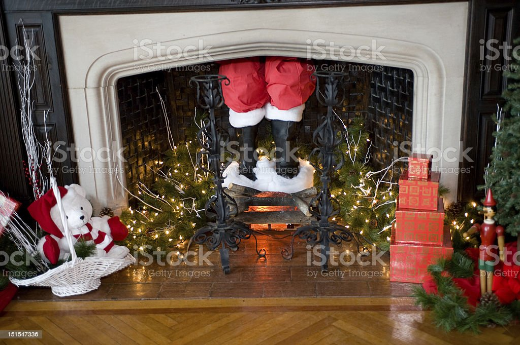 Santa Claus is Coming to Town stock photo
